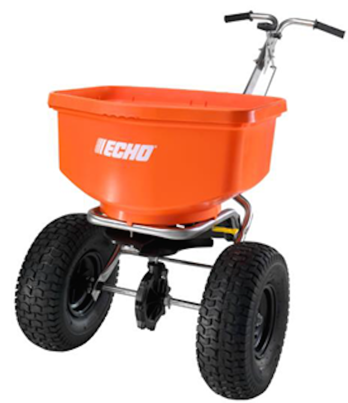 echo launches turf application spreaders rural lifestyle dealer