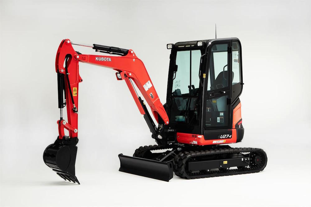 Kubota U27-4 Tight Tail Swing Excavator