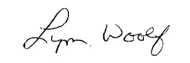 Lynn Woolf signature