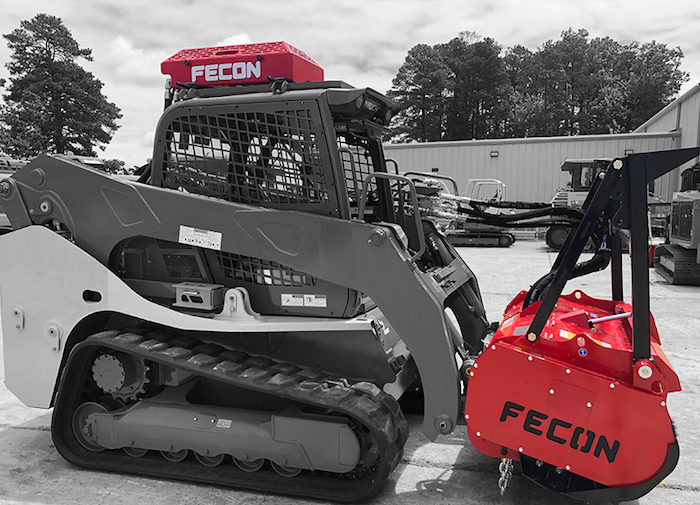Fecon Roof Mounted Hydraulic Cooler for Compact Tracked Loaders_1119 copy