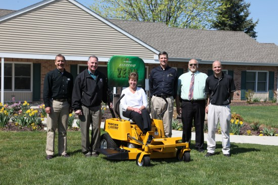 Power Pro Equipment of Pennsylvania recently donated a Hustler Turf Zeon electric mower