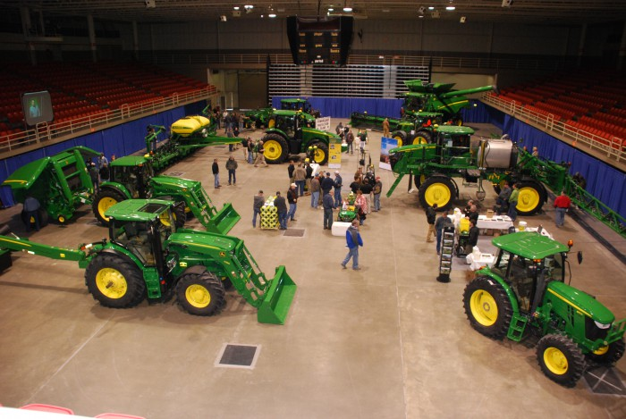 Hiawatha Implement and Horizon Equipment teamed up on a New Product Expo at the Civic Arena in St. Joseph, Mo. Dozens of pieces of equipment were on display, including lawn and garden, small ag, production ag and precision ag technology.