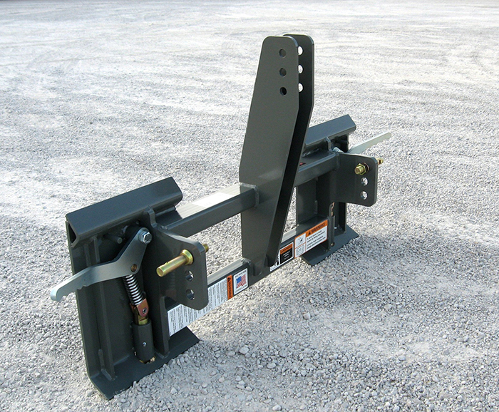 3pt Hitch Hydraulic Top Link : New point hitch to skid steer adapter