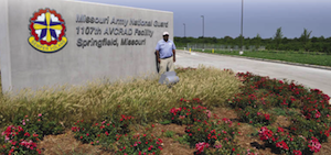 One of the largest landscaping jobs that Advanced Lawn Care has landed included hydroseeding and landscaping 17 acres, and building an 8,000 square-foot paver patio for the Missouri Army National Guard facility in Springfield.