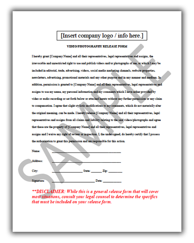 Video Release Form