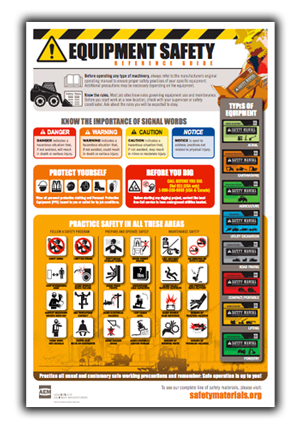 Equipment Safety Poster