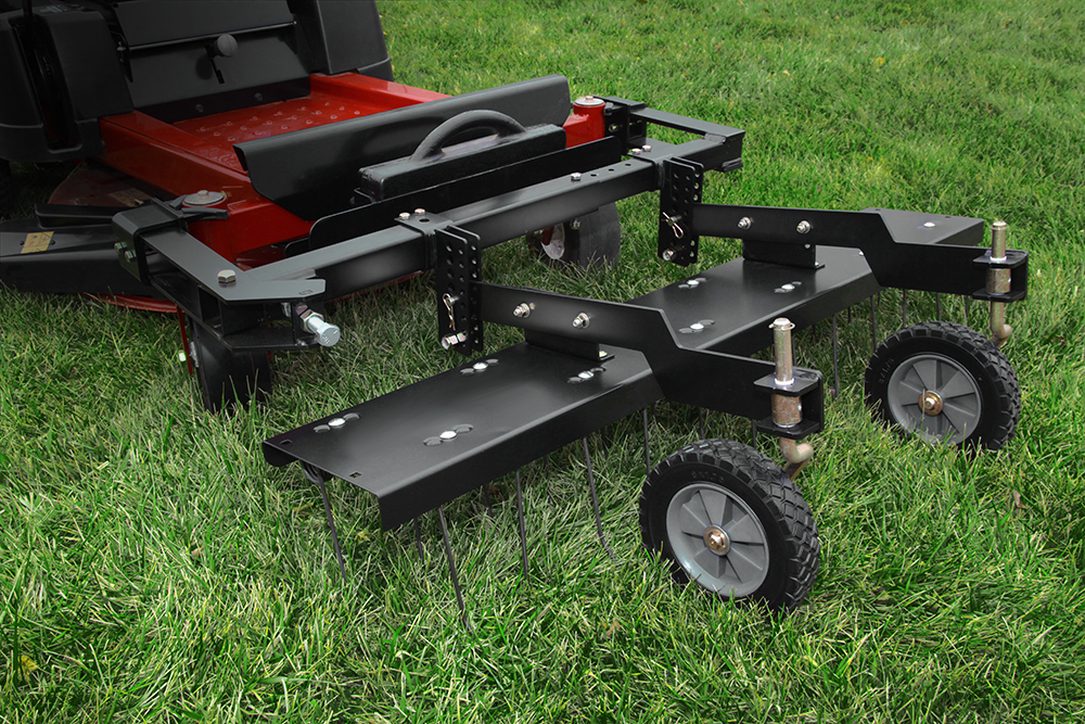 Brinly Tractor Attachments : Brinly hardy unveils dethatcher for zero turn mowers