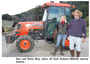 The Brays and their Kubota Tractor